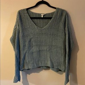 Teal green knitted sweater medium size